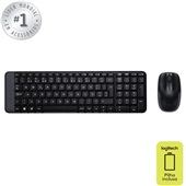 Teclado e Mouse Wireless USB Preto MK220 1 UN Logitech