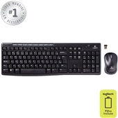 Teclado e Mouse Wireless USB Preto MK270 1 UN Logitech