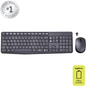 Teclado e Mouse Wireless USB Cinza MK235 1 UN Logitech