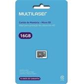 Cartão de Memória Classe 10 16GB MC143 1 UN Multilaser
