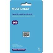 Cartão De Memória Classe 4 8GB MC141 1 UN Multilaser