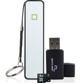 Kit 3 em 1 com Power Bank Pendrive e Cartão SD 8GB MC200 1 UN Multilaser