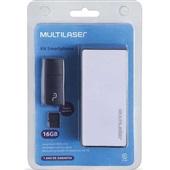 Kit 3 em 1 com Power Bank Pendrive e Cartão SD 16GB MC220 1 UN Multilaser