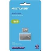 Leitor USB + Cartão de Memória Classe 4 16GB MC172 1 UN Multilaser