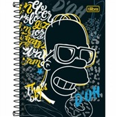 Caderneta Espiral Capa Dura 1/8 80 FL The Simpsons B 1 UN Tilibra