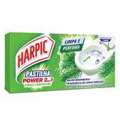 Pastilha Sanitária Adesiva Power 2 em 1 9g cada Pinho 3 UN Harpic
