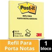 Bloco Adesivo Refil Sistema Puxa Fácil Amarelo 76 mm x 76 mm Post-it