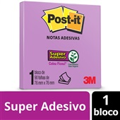 Bloco de Notas Super Adesivas Lilás 76 mm x 76 mm 90 folhas Post-it