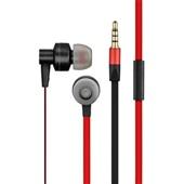 Fone de Ouvido In Ear Metal com Microfone Preto e Vermelho PH154 1 UN Pulse