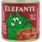 Extrato de Tomate Lata 130g 1 UN Elefante