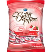 Bala Butter Toffees Morango 600g Arcor