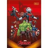 Caderno Brochura Capa Dura 1/4 80 FL Avengers Assemble D 1 UN Tilibra