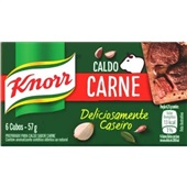 Caldo de Carne 57g 6 Cubos 1 UN Knorr