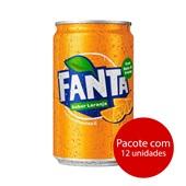 Refrigerante Fanta Laranja 220ml Lata 12 UN