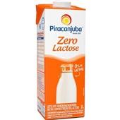 Leite UHT Semidesnatado Zero Lactose 1L Piracanjuba