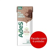 Bebida à Base de Soja Chocolate 200ml 6 UN Ades