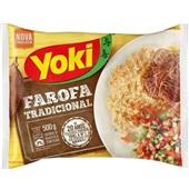 Farofa Tradicional de Mandioca Temperada 500g 1 Pacote Yoki