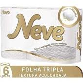 Papel Higiênico Folha Tripla 20m Premium Comfort 6 RL Neve