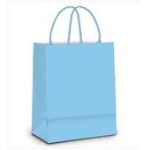 Sacola para Presente Azul Bebê 21,5x15x8cm 1 UN Cromus