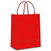 Sacola para Presente Vermelho 32x26,5x13cm 1 UN Cromus