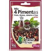 Mix 4 Pimentas em Grãos 40g 1 UN Aroma das Ervas