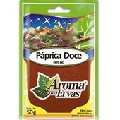 Páprica Doce em Pó 50g 1 UN Aroma das Ervas