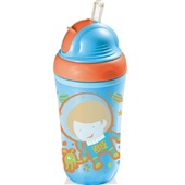 Copo Térmico com Canudo de Silicone Cool Azul BB034 1 UN Multikids Baby