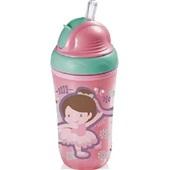 Copo Térmico Canudo Silicone Cool Rosa BB035 1 UN Multikids Baby