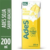 Bebida à Base de Soja Sabor Abacaxi 200ml Ades