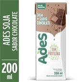 Bebida à Base de Soja Sabor Chocolate 200ml Ades