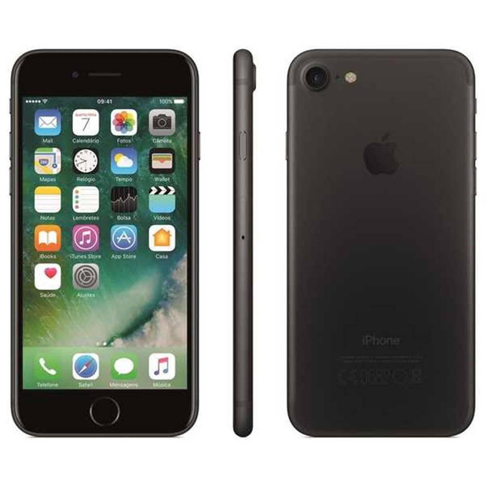 Iphone 7 4.7 128gb Câmera 12mp Ios Chip Single 4g Preto Matte 1 Un Apple