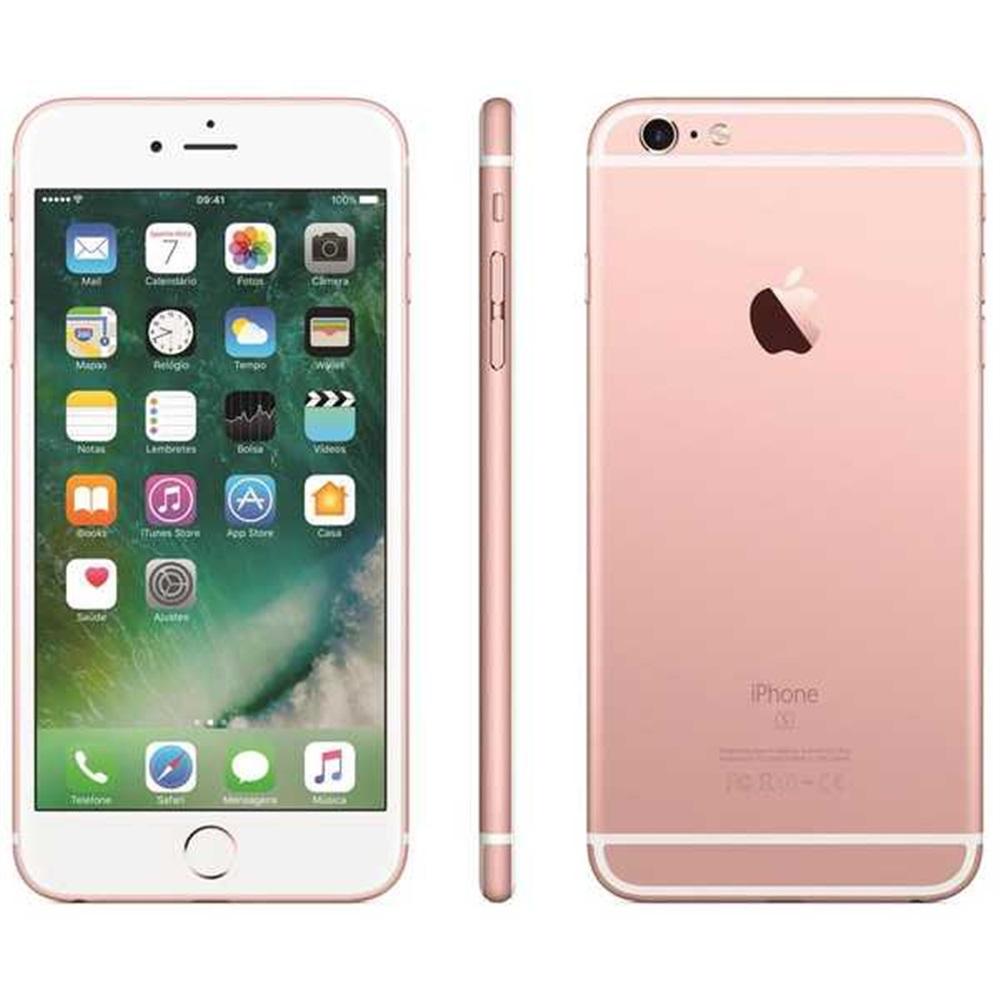 IPHONE 6S 4.7 32GB CÂMERA 12MP IOS CHIP SINGLE 4G ROSA OURO 1 UN APPLE